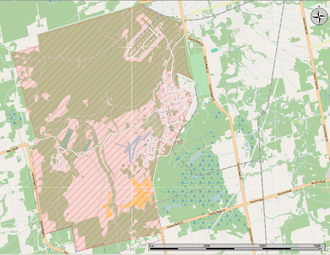 CFB Borden - Map of the base.