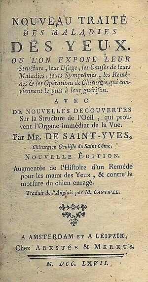 Charles Saint-Yves - Charles de Saint-Yves, Traité des maladies des yeux, 3rd edition 1767