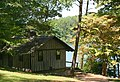 Cabin 1 Fairy Stone State Park is 1 bedroom waterfront cabin (25921397770).jpg