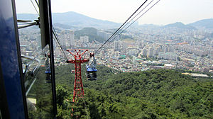 Cable Car at Geumjeong Mountain