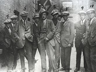 "Bloody Sunday (1920) - A photo purportedly of the Cairo Gang, but more probably the Igoe Gang (sometimes called the ""Murder Gang"" by the IRA). These were RIC officers who were brought to Dublin to identify and target IRA men who had moved to the capital from their respective counties. There is no known photograph of the Cairo Gang."