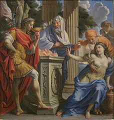 Camma Offers the Poisoned Wedding Cup to Synorix in the Temple of Diana
