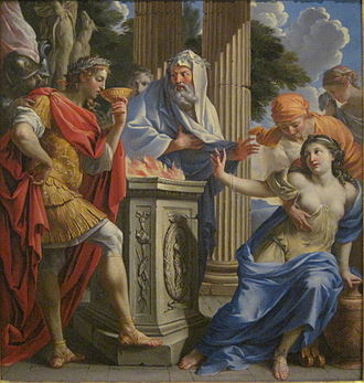 Camma - The poisoning of Camma and Synorix in the temple of Diana (Charles Poerson, 17th century).