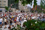 Canada Day on Wellington Street, in front of the Château Laurier, in Ottawa