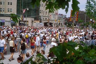 Wellington Street (Ottawa) - Wellington Street on Canada Day. Wellington's prime location ensures its closure for many public holidays.