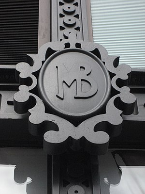 Maison Blanche - Image: Canal St MB Bldg Initials