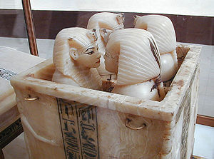 Canopic chest - Tutankhamun's canopic chest. Egyptian Museum, Cairo.