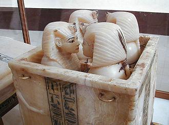 Canopic chest - Tutankhamun's canopic chest. Egyptian Museum, Cairo.