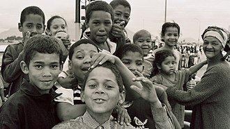 Cape Coloureds - Cape coloured children in Bonteheuwel township (Cape Town, South Africa)
