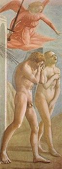 Cappella brancacci, Cacciata di Adamo ed Eva (restaurato), Masaccio
