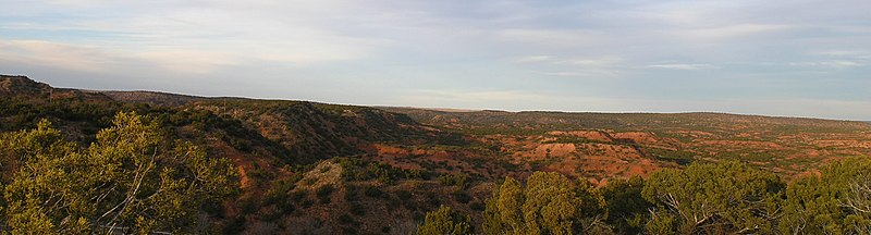Looking north at the Caprock Escarpment. Caprock Escarpment.jpg
