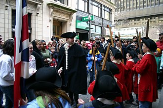 Thomas Preston (British Army officer) - An actor performing as Preston during a re-enactment of the Boston Massacre in 2007.