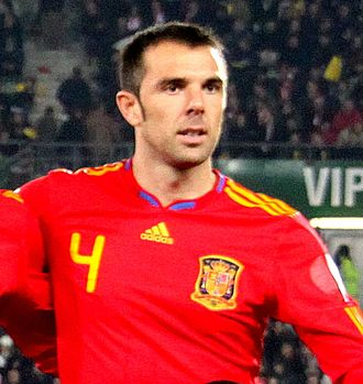 Carlos Marchena - Marchena before a game with Spain in 2009
