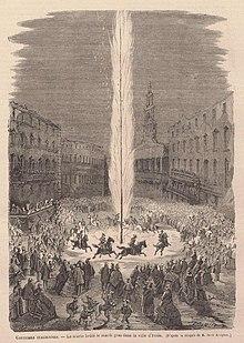 Cerimonia dell'Abbruciamento degli Scarli in 1866[13]