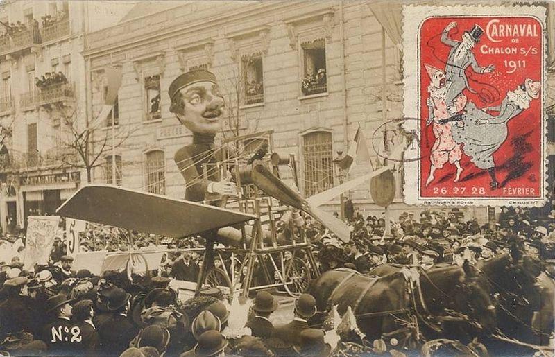 File:Carnaval de Chalon-sur-Saône 1911 - Char de l'aviation.jpg
