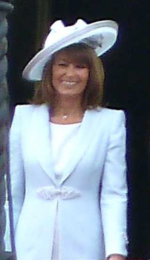 Carole Middleton - Middleton stands on the balcony of Buckingham Palace at the Royal Wedding in 2011
