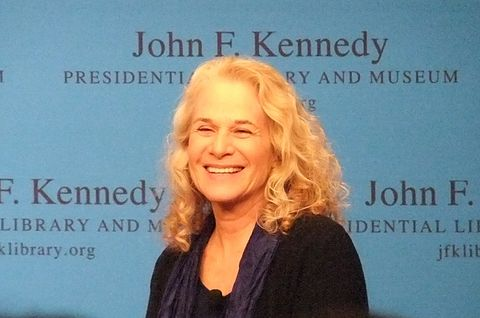 King during an interview at the JFK Presidential Library, Boston, Mass., April 12, 2012 Carole King Boston 2012.jpg