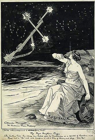 1916 Australian conscription referendum - The New Southern Cross by Claude Marquet