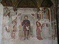 Casalmaggiore - Santuario Madonna della Fontana - Affresco Cappella dei Francesi- a sinistra di profilo Giovanna d'Arco.JPG