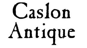 Caslon Antique - Image: Caslon Antique