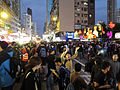 Castle Peak Road Occupy in evening 20150301.jpg