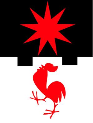 Zscheiplitz - Modern coat of arms of Weissenburg residence, AD 2008