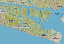 Caswell Beach Nc Map Annotated