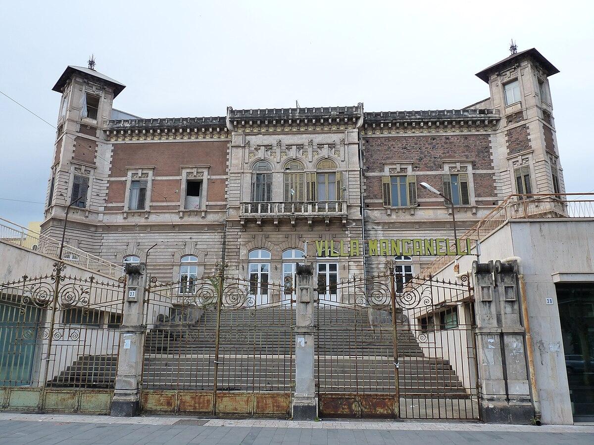 Villa manganelli catania wikipedia for Corso arredatore d interni catania