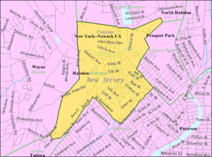 Haledon, New Jersey - Image: Census Bureau map of Haledon, New Jersey