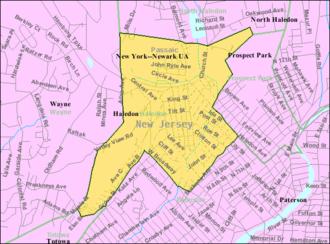 Haledon, New Jersey - Image: Census Bureau map of Haledon, New Jersey