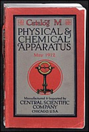 Mail order - Cover of a mail-order catalogue for scientific equipment.
