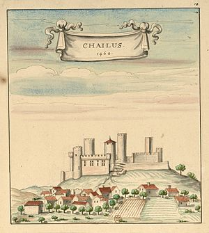 Château de Châlus-Chabrol - Image: Château de Châlus en 1460