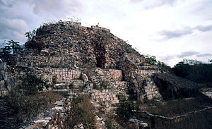 Sayil - Pyramid of Chac II after excavation and partial restoration