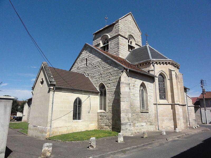 Chamouilley (Haute-Marne) église, sud-est