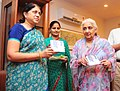 Chandresh Kumari Katoch launching a set of special DVDs of Films based on the stories of Rabindranath Tagore, in New Delhi on May 09, 2013. The Secretary Culture, Smt. Sangita Gairola is also seen.jpg