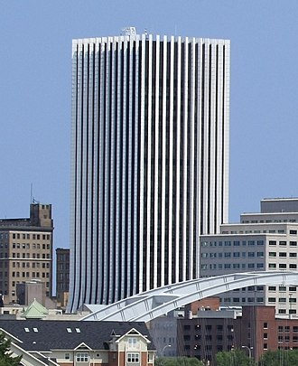 The Metropolitan (Rochester) - The Metropolitan in downtown Rochester, looking northwest