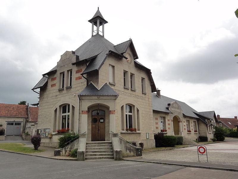 Chassemy (Aisne) mairie-école