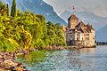 Chateau de Chillon on the shore of Lake Geneva.jpg