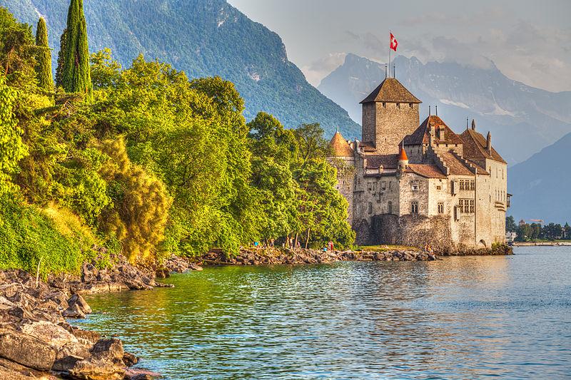 File:Chateau de Chillon on the shore of Lake Geneva.jpg