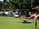 Chegada do Helicóptero Águia 14 (PR-SMU) da Polícia Militar no Domingo com o Astronauta. Evento comemorativo dos 10 anos do primeiro brasileiro no espaço, o Astronauta bauruense Marcos Pontes. - panoramio (1).jpg