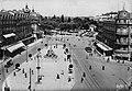 Chemins de fer de l'Hérault - Montpellier Place de la Comédie et gare de l'Esplanade 1949.jpg