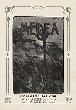 Médée (Cherubini) - Title page to a vocal score of the 1909 hybrid version.