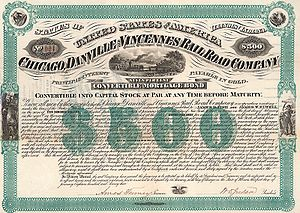 Chicago, Danville and Vincennes Railroad - Image: Chicago, Danville & Vincennes Railroad 1873