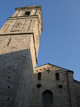 Bellagio, Lombardy - The Basilica of St. James (San Giacomo), built by 12th century artisans from Como.