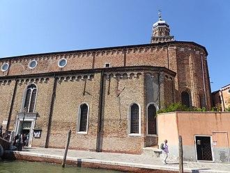 San Pietro Martire, Murano - Wall of the church