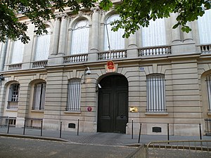 China–France relations - Chinese embassy in Paris, France.