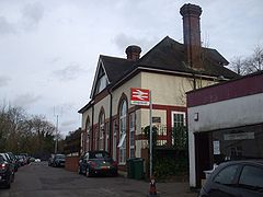 Chipstead station west entrance and old building.JPG