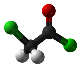 Chloroacetyl chloride - Image: Chloroacetyl chloride 3D balls