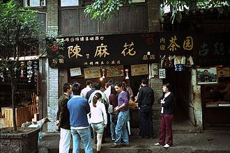 Ciqikou, Chongqing - Ciqikou Dough twist shop.