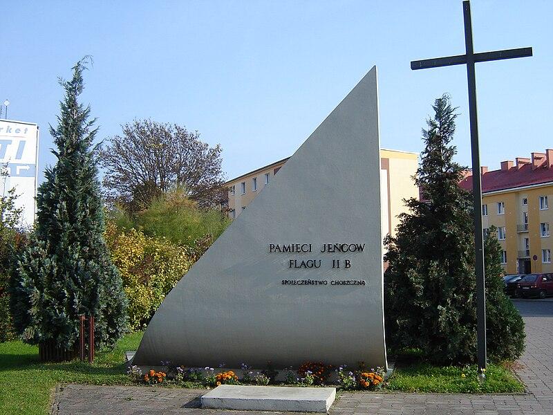 Plik:Choszczno - pomnik Oflagu IIB Arnswalde.jpg